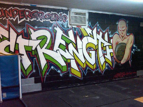 Underground Strength Gym Graffiti