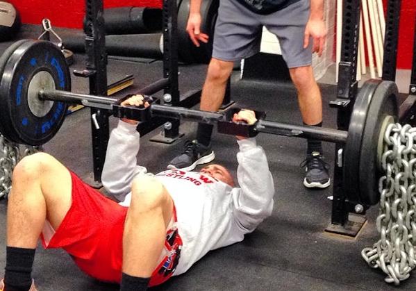 Brett Donner training hard at The Manasquan Underground Strength Gym.